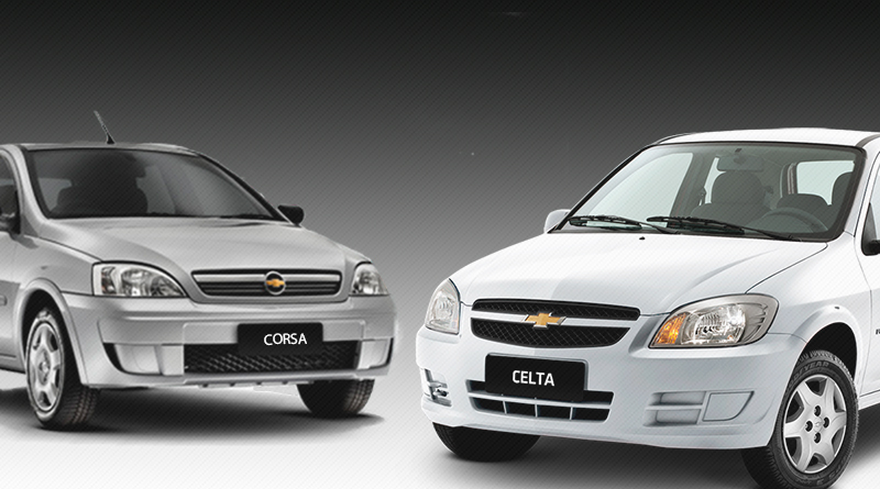 Comparativo GM Chevrolet Corsa Hatch e Celta - Modelos 1.0
