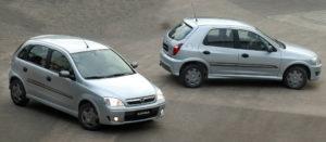 GM Chevrolet Corsa Hatch e Celta