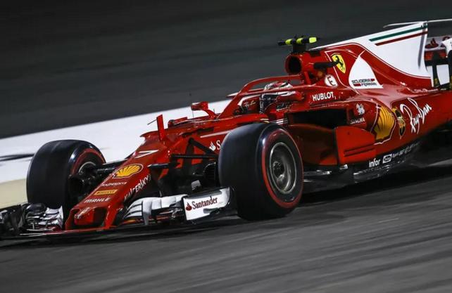 Halo instalado na Ferrari SF71H
