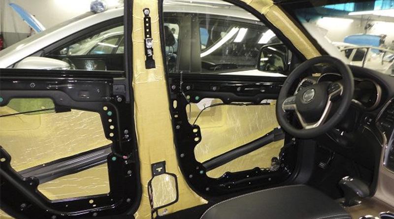 Conserto de vidro elétrico para carros blindados