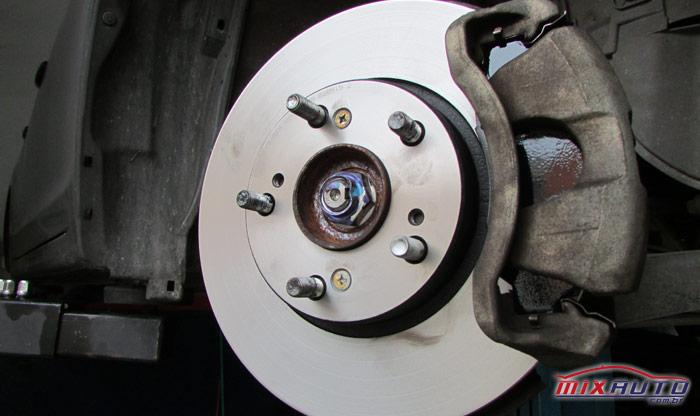 Disco de freio novo após realização da troca na MixAuto