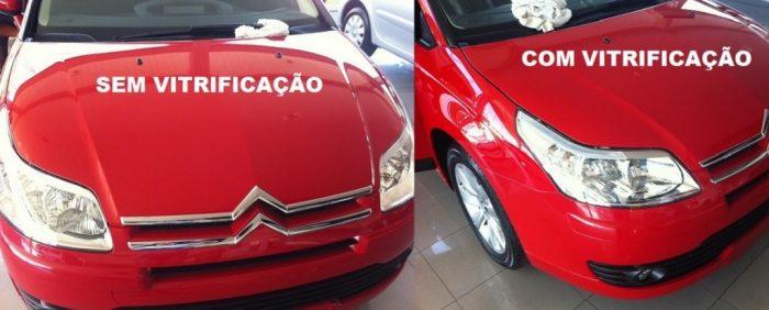 vitrificação automotiva antes e depois