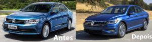 Novo Volkswagen Jetta - Antes e depois