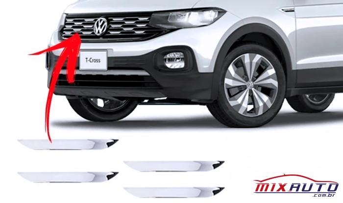 Adesivo Cromado para Grade Dianteira do Volkswagen T-Cross