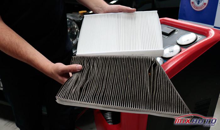 Filtro Ar Condicionado Automotivo Limpo vs Sujo - Importância da limpeza e higienização