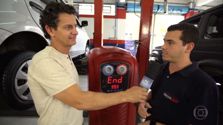 Mix Auto Center na reportagem sobre Calibragem com Nitrogênio do programa Auto Esporte 0