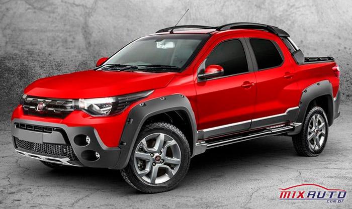 Fiat Strada 2020 vermelho