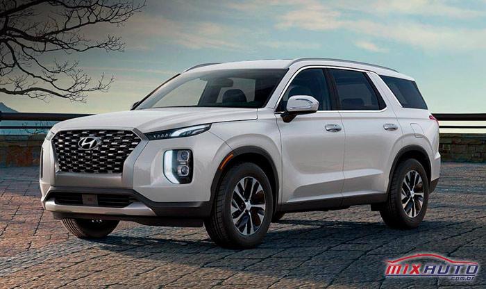 Hyundai Palisade 2020 branco parado