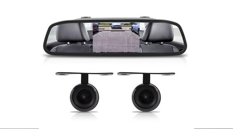 Câmera de ré com opção no Retrovisor Fiat Mobi