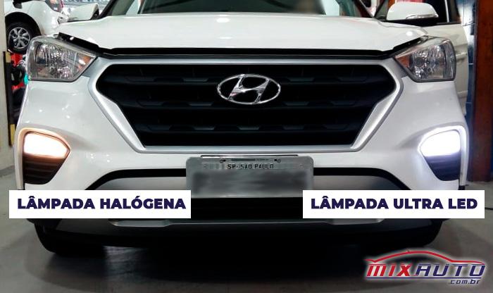 Hyundai Creta com faróis de milha instalados na Mix Auto Center Ipiranga