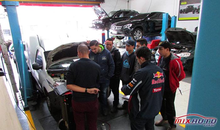 Demonstração prática do uso e funcionamento da máquina recicladora de ar condicionado automotivo na MixAuto Center Tatuapé