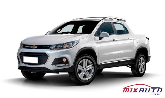 Nova picape Chevrolet Montana 2021 branca