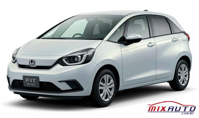 Novo Honda Fit 2021 apresentado em fundo branco