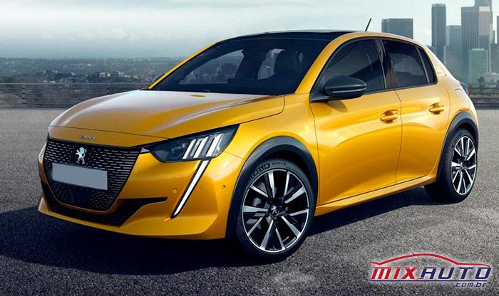 Novo Peugeot 208 amarelo parado