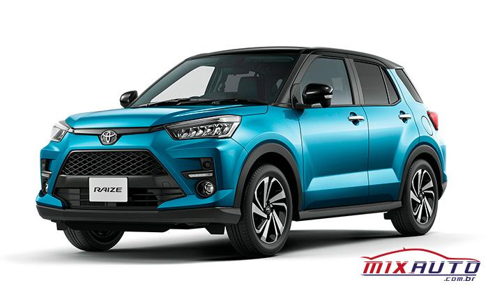 Toyota Raize azul com detalhes em preto