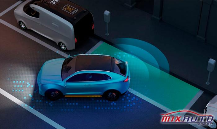 Simulação de sistema de estacionamento semiautônomo que deve incorporar o novo VW Nivus 2020