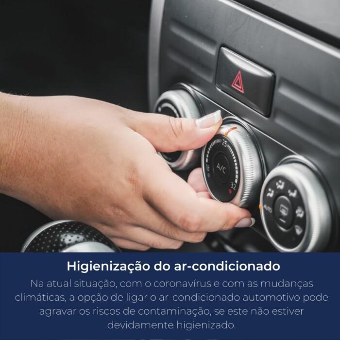 Ligar o ar-condicionado automotivo pode agravar os riscos de contaminação, se este não estiver devidamente higienizado.