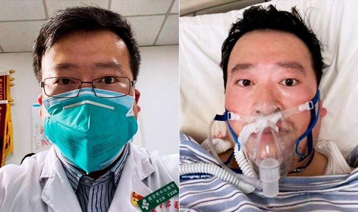 O oftalmologista Li Wenliang, um dos primeiros médicos a alertar sobre o coronavírus