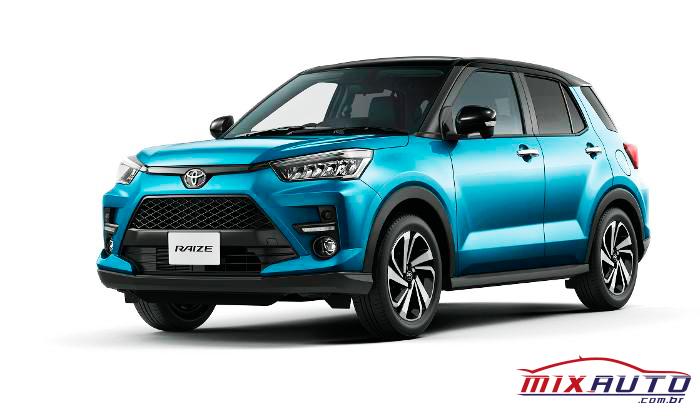 Toyota Raize possui motor 1.0