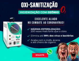 Banner de divulgação e agendamento do serviço de Oxi-Sanitização da Mix Auto Center