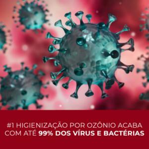 Foto ilustrativa de colônia de vírus a serem eliminados pela oxi-sanitização