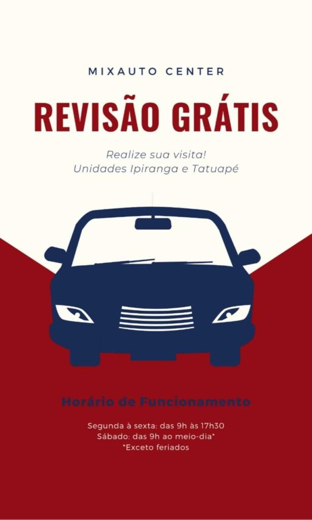 Banner de Revisão Grátis na Mix Auto Center
