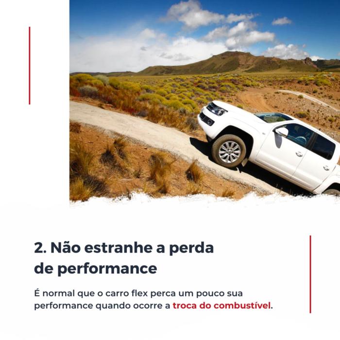 Quando ocorre a troca do combustível, seja de álcool para gasolina ou outro, é normal que o carro perca um pouco sua performance.
