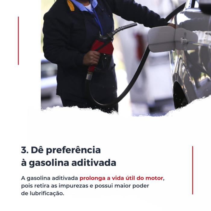 A gasolina aditivada possui componentes extras que retiram as impurezas do motor