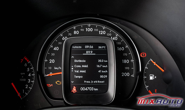 Imagem do painel da nova Fiat Strada 2021