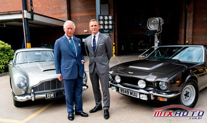 Príncipe Charles na gravação do novo 007 com Daniel Craig