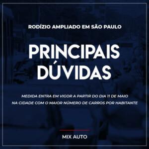 Informativo de Principais Dúvidas sobre o rodízio ampliado em São Paulo