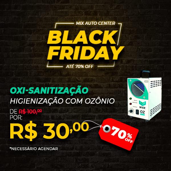 Anúncio de Black Friday traz serviço de Oxi-Sanitização em oferta
