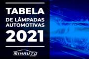 Tabela COMPLETA de Aplicação de Lâmpadas Automotivas 2020/2021