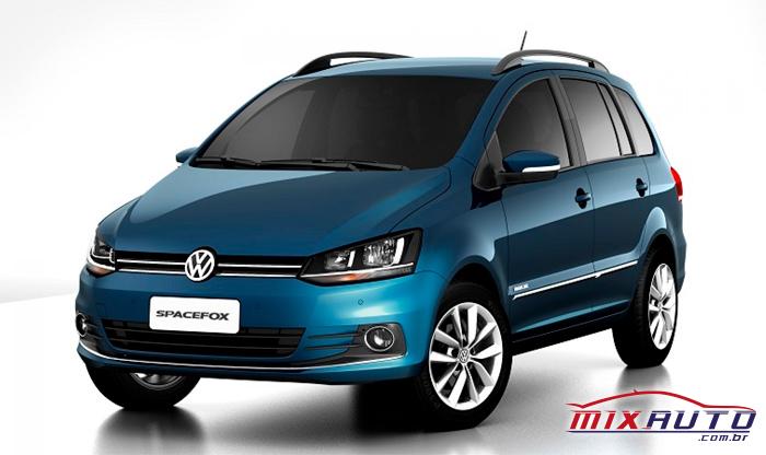 Volkswagen Spacefox azul