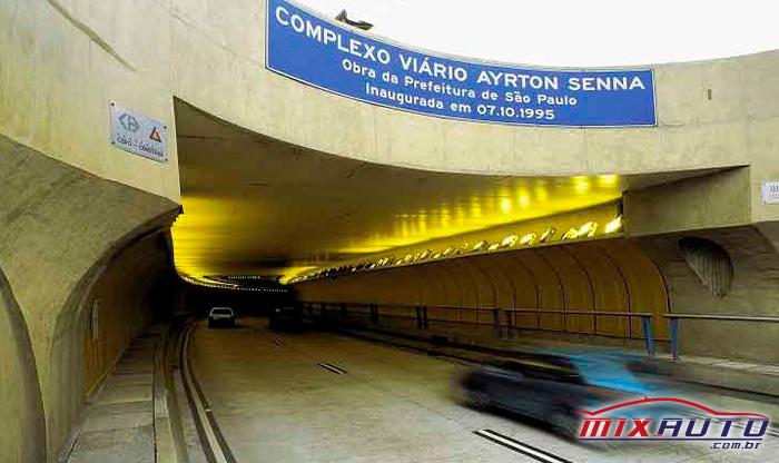 Entrada do Túnel Ayrton Senna em SP