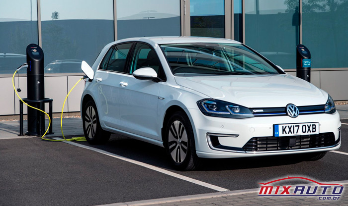 Carro sustentável e-Golf-Volkswagen