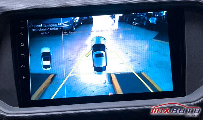 Exemplo de câmera de ré no Fiat Pulse